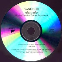 Vangelis-Alexander 2nd USA Edition CDR Promo Acetate