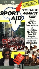 Sport Aid - The Race Against Time UK videocassette front cover