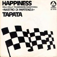 "Happiness/Tapata Italian 7"" picture sleeve front"