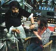 Vangelis and Raine Shine at Nemo Studio 1982